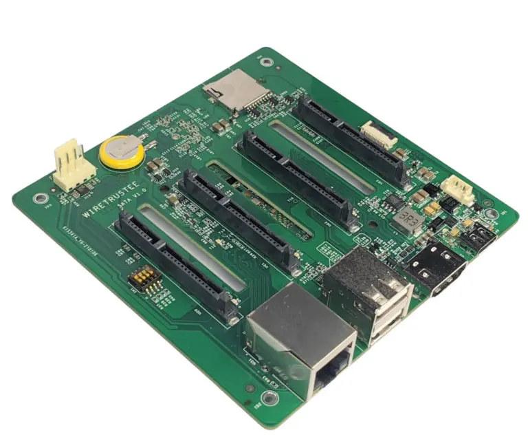 Wiretrustee SATA บอร์ด Raspberry Pi Compute Module 4