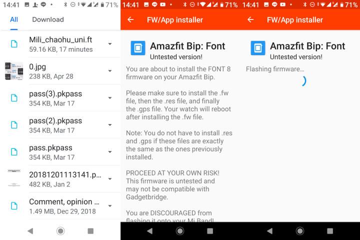 Amazfit-Bip-FW-แอป-Installer-ฟอนต์-ไทย