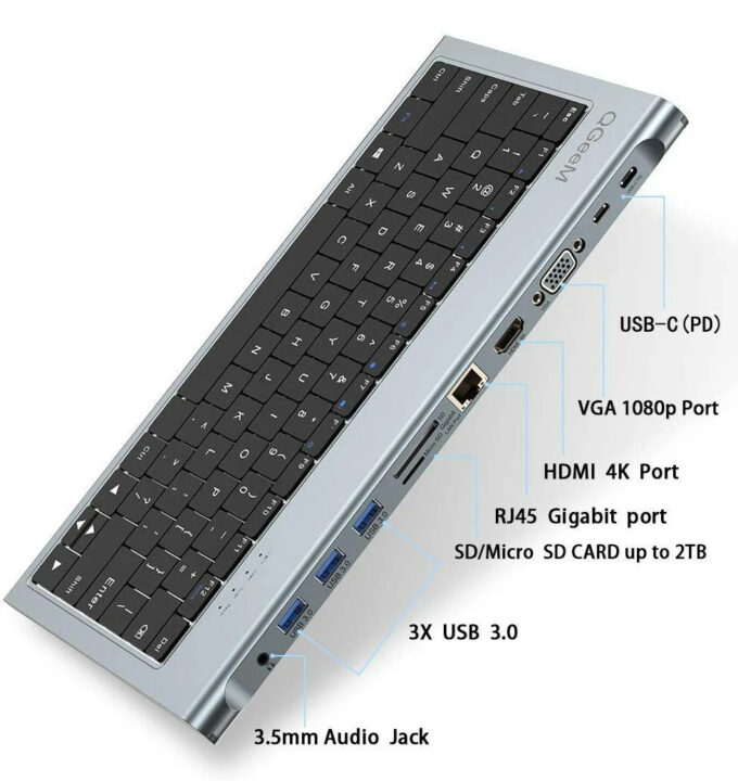 Keyboard-USB-C-dock-11-ports
