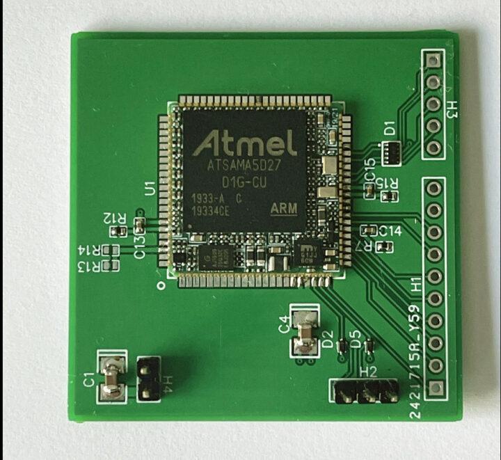 SAMA5D27-SiP-module-breakout-board