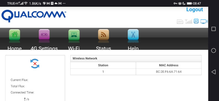 Qualcomm-4G-WiFi-router-configuration-interface