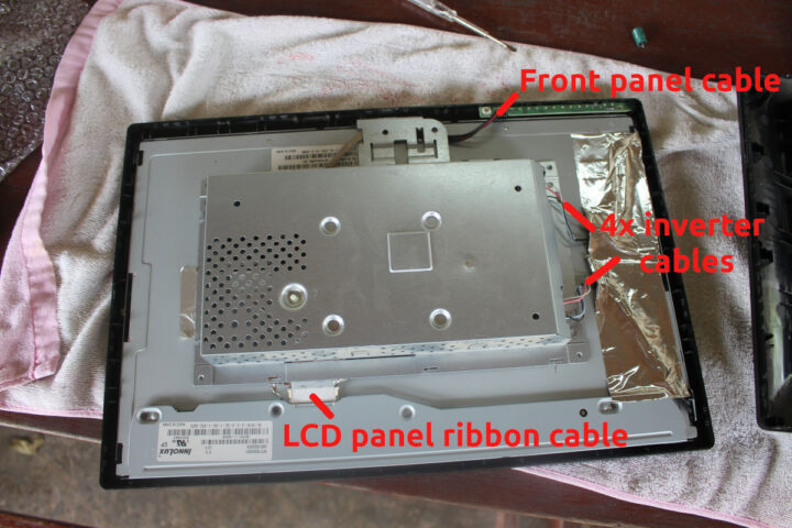 repair-LG-flatron-W1934S-VGA-monitor-remove-cables